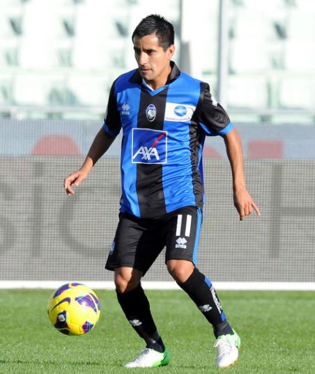 Maix Moralez with Atalanta in October of 2012 | Source: Giuseppe Bellini - Getty Images