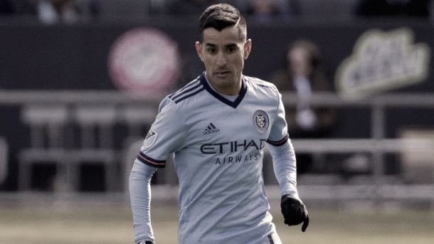 Maxi Moralez is hoping to return to the NYCFC lineup in Vancouver. | Photo: Major League Soccer