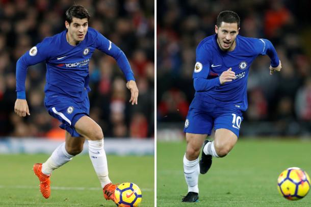 Morata y Hazard llegan intratables | Foto: Premier League.