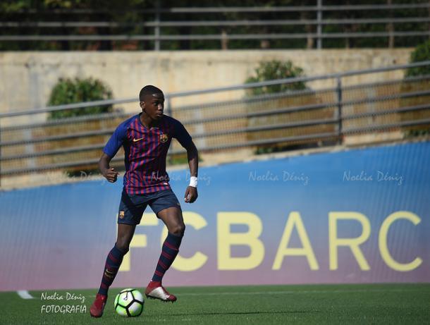 Ilaix con el FCB Juvenil A esta temporada. Foto: Noelia Déniz, VAVEL