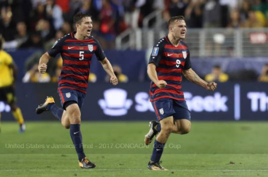 Jordan Morris (right) celebrates after scoring the game-winning goal | Source: Omar Vega - Getty Images
