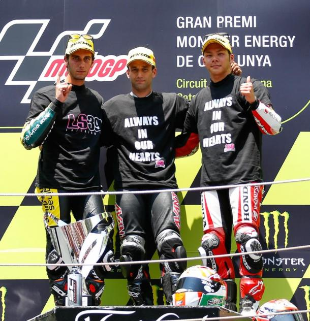 Subdued podium following Moto2 race - www.mcnews.com