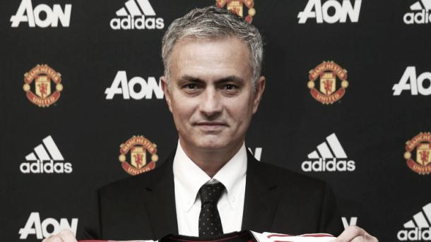 Above: Jose Mourinho been unveiled as Manchester United manager | Photo: Sky Sports