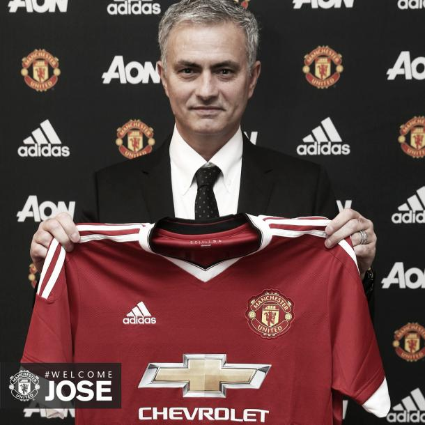 Above: Jose Mourinho been revealed as Manchester United manager | Photo: manutd.com