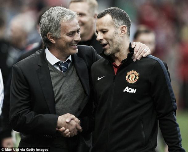Above: New Manchester United manager Jose Mourinho with Ryan Giggs | Photo: Man Utd via Getty Images