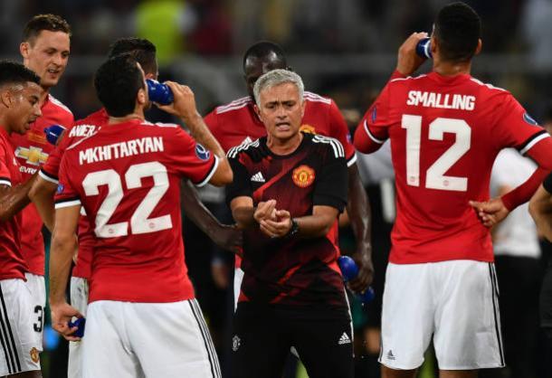 O técnico do Manchester United fez vários elogios aos seus comandados (Foto: Dan Mullan/Getty Images)