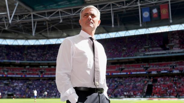 Mourinho at United's Community Shield victory last Sunday | Photo: Sky Sports