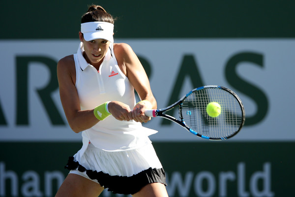 Muguruza is looking to reach the quarterfinals at Indian Wells for the first time in her career (Photo by Matthew Stockman / Getty Images)
