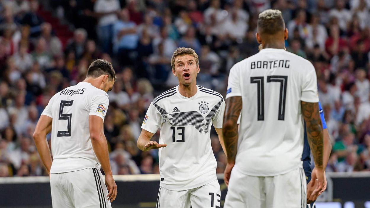 Müller en un partido con la selección alemana. FUENTE: DFB