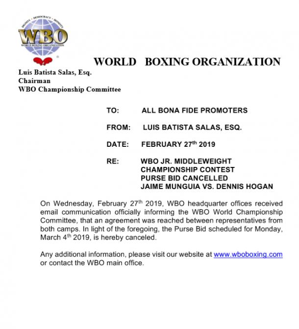 Foto: Organización Mundial de Boxeo