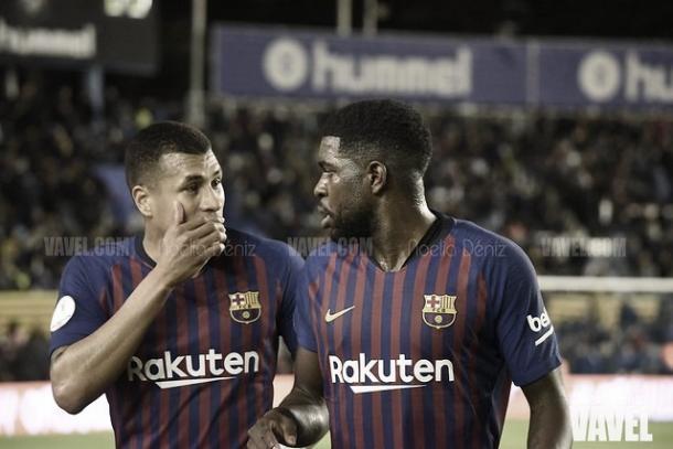 Murillo y Umtiti, titulares ante el Huesca | Foto: Noelia Déniz - VAVEL