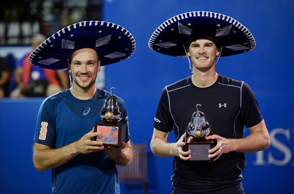 Jamie Murray and Bruno Soares capture their first title of the season (Photo: Alfredo Estrella/Getty Images)