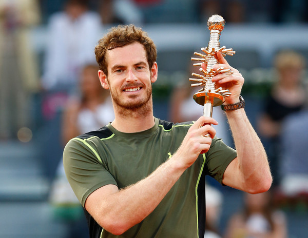 Murray won his first Masters 1000 clay court title at the Mutua Madrid Open in 2015 (Photo by Julian Finney / Getty Images)