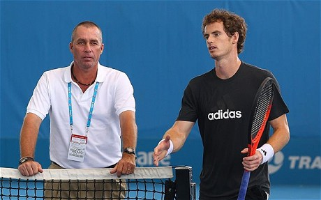 Ivan Lendl (left) and Andy Murray during a practice. Photo: Getty Images