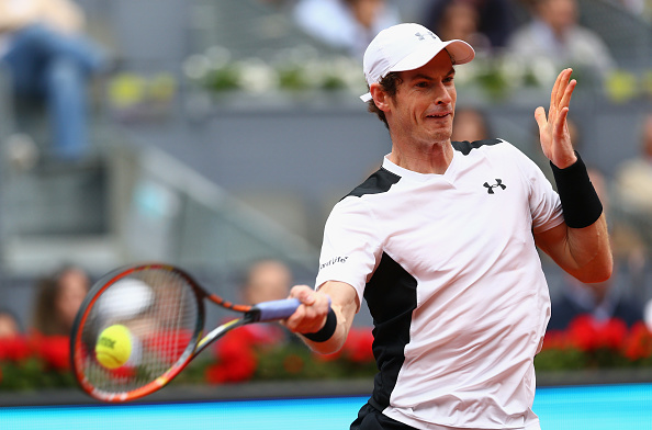 Andy Murray crushes a forehand during his semifinal win. Photo: Clive Brunskill/Getty Images