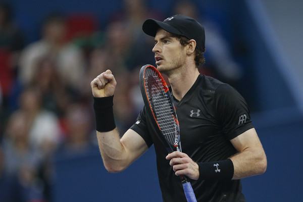 Andy Murray pumps his fist during his Shanghai final victory. Photo: Lintao Zhang/Getty Images