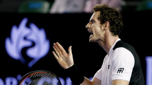 Murray shows some frustration during the 2016 Australian Open. Photo: AP