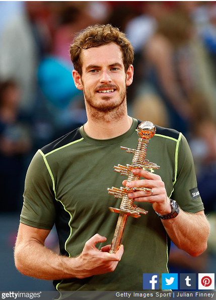 Andy Murray with his Madrid Open trophy (Source: Getty/ Julian Finney)