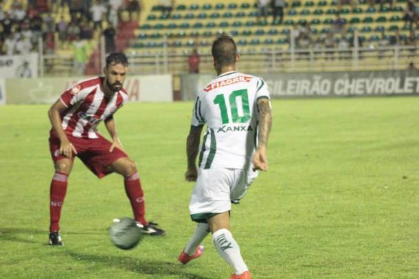Náutico é mais eficaz no primeiro tempo e sai em vantagem (Foto: Diogo Carvalho/Luverdense)