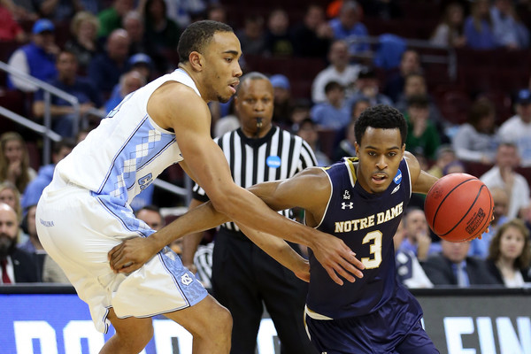 Notre Dame was down just five at the half (Photo: Elsa/Getty Images).
