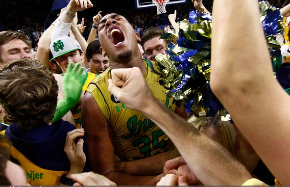 The Irish began clicking with several big wins, including this stunner of second-ranked North Carolina / Michael Hickey - Getty Images