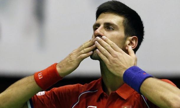 Novak Djokovic acknowledges the crowd after his Davis Cup heroics (Photo: AP)