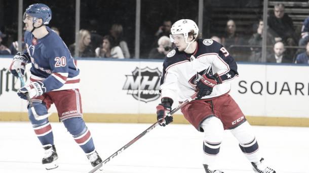 Panarin en el partido | Foto: NHL.com