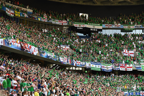 The Northern Ireland support were in fine voice on Sunday. | Image credit: Charles McQuillan/Getty Images