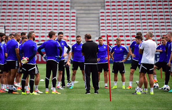 The squad train in Nice ahead of their opening game. | Image credit: ATTILA KISBENEDEK/AFP/Getty Images