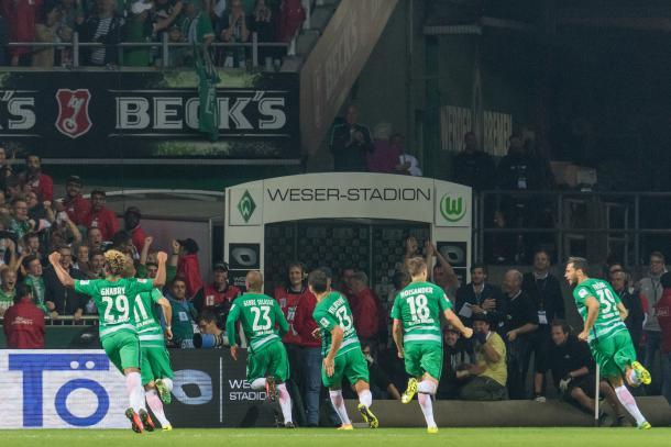Los jugadores del Werder Bremen celebran un gol en esta campaña   Foto: Werder Bremen