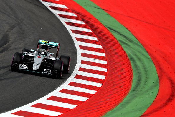 Rosberg rounds a corner in Austria. | Image credit: Mark Thompson/Getty Images