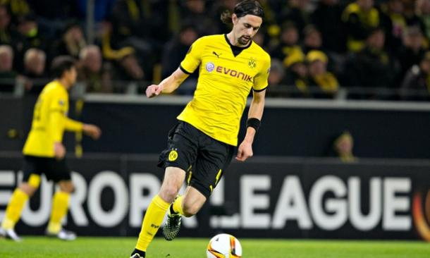 Subotic in action for BVB. | Image credit: Bernd Thissen/ Bernd Thissen/dpa/Corbis