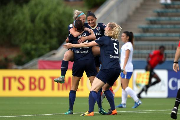 NC Courage remains in first place and hopes to gain more points in their rematch against the Boston Breakers | Source: NC Courage