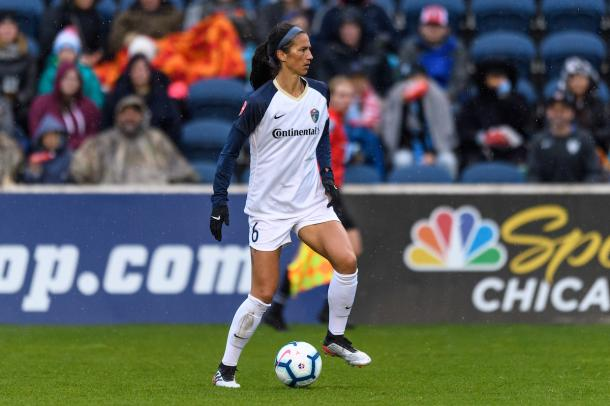 Abby Erceg will have one more game with the Courage before heading to the World Cup.   Photo: isiphotos.com