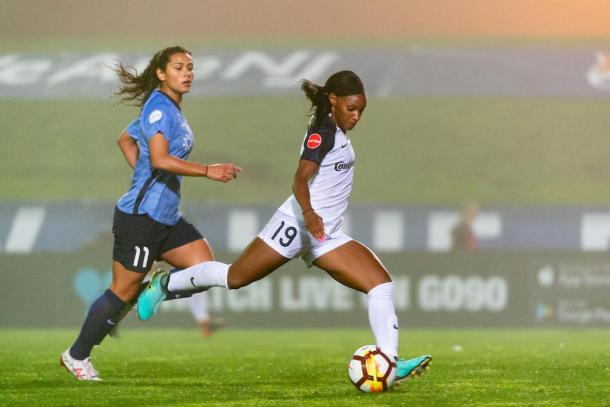 Crystal Dunn has been close to unstoppable this season | Source: nccourage.com