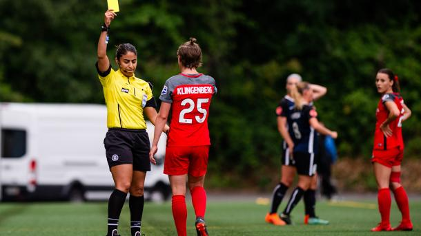 Klingenberg received a yellow for a different foul during the same match | Source: Jane Gershovich-ISI Photos