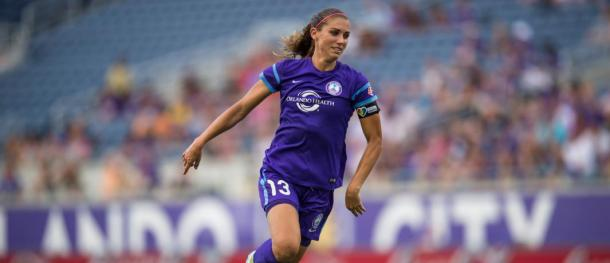 Alex Morgan thought she had won it for Orlando right at the death | Source: orlandocitysc.com