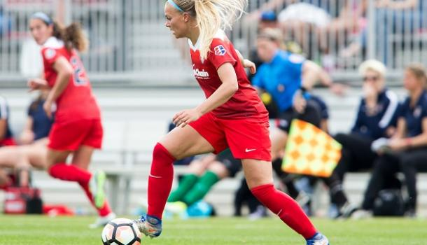 Line Sigvardsen Jensen will want to start as many games as possible for Denmark this summer | Source: washingtonspirit.com