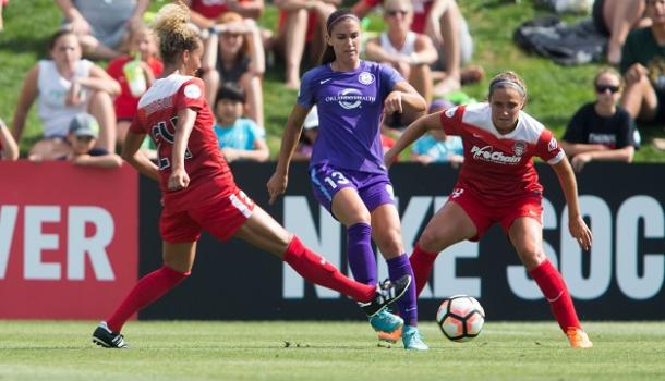 Alex Morgan was unable to make her mark on her first start back from injury | Source: washingtonspirit.com