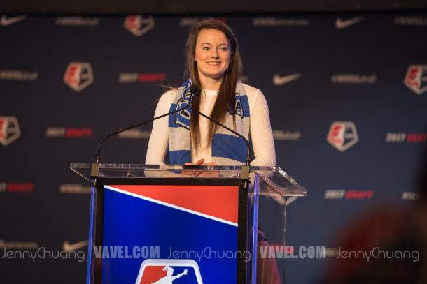 Lavelle at the 2017 NWSL Draft | Source: Jenny Chuang/VAVEL