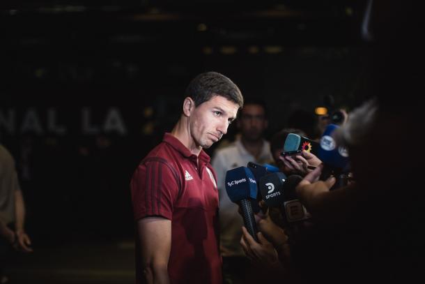 Nacho Fernández compadece ante los medios de prensa / Foto: Twitter oficial Copa Libertadores