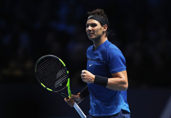 Rafael Nadal has a chance to make up ground should he improve on his one-loss showing at the ATP Finals. Photo: Julian Finney/Getty Images