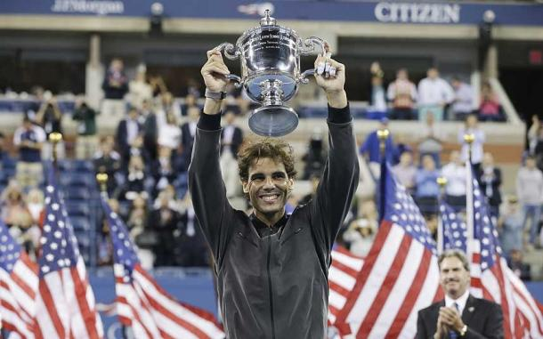 Rafael Nadal victorious at the 2013 US Open. Photo: AP
