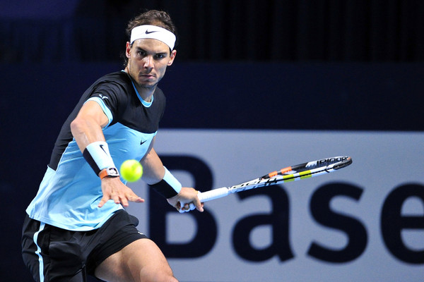 Nadal in Basel last October, where his comeback began. Photo: Harold Cunnigham/Getty Images