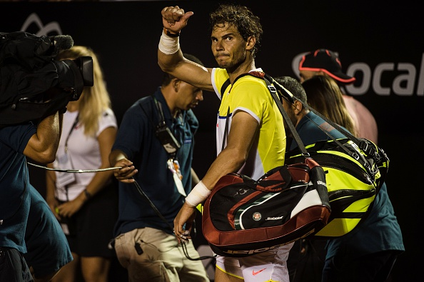 Rafael Nadal leaves the court after his loss on Saturday. Photo: Yasuyoshi Chiba/Getty Images/AFP
