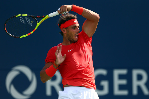 Rafael Nadal crushes a forehand during the final. That shot was dominant in the match. Photo: Getty Images