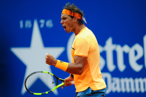 Nadal pumps his fist during his victory over Fognini. Photo: David Ramos/Getty Images