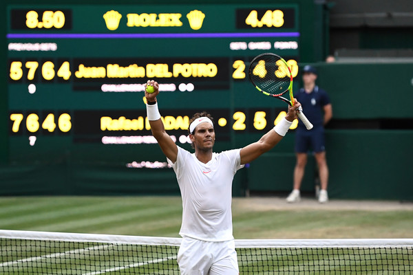 Nadal clinches his spot in the semifinals. Photo: Clive Mason/Getty Images