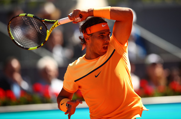 Rafael Nadal follows through on his forehand, which was on point in this match. Photo: Clive Brunskill/Getty Images
