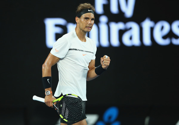 Nadal celebrates a point during his second round win. Photo: Clive Brunskill/Getty Images